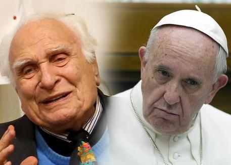 Marco Pannella e papa Francesco
