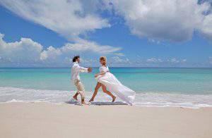 spiaggia sposi
